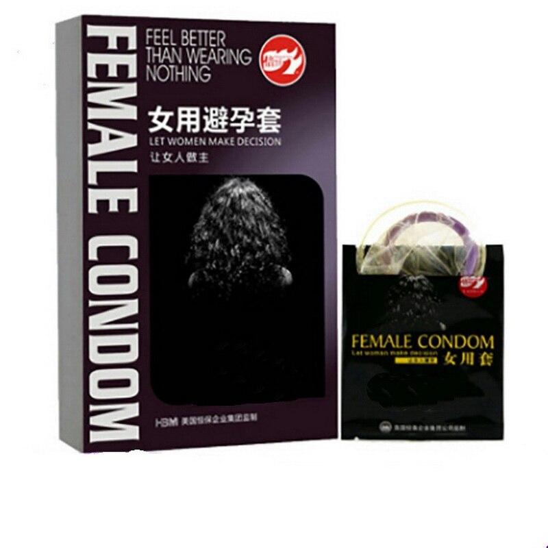 Preservativos de látex Natural para mujer, paquete de 2 unidades, preservativos de...
