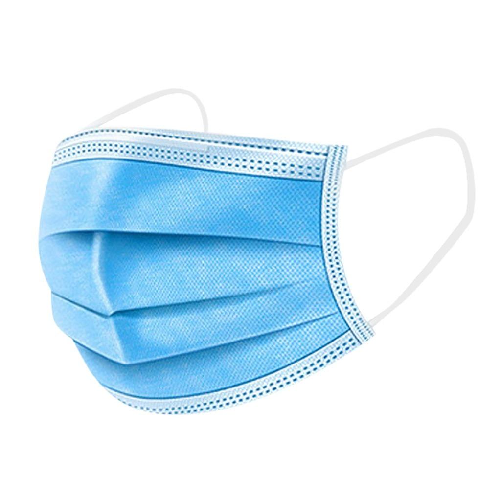 Mascarilla facial desechable de 3 capas, mascarilla facial no tejida elástica, mascarilla blanda transpirable para higiene facial, 50 Uds.