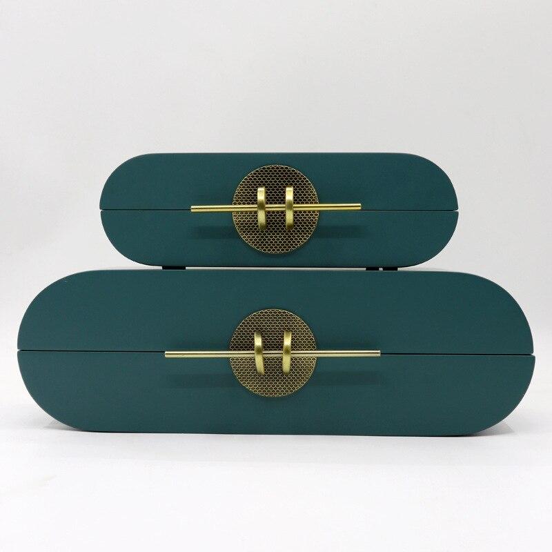 بسيطة الحديثة مجوهرات صندوق تخزين خشبية الإبداعية خلع الملابس الجدول المنزل لينة الزي نموذج غرفة الرجعية صندوق مجوهرات الحلي