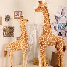 140cm géant réel vie girafe jouets en peluche mignon peluche animaux poupées doux Animal cerf poupée de haute qualité cadeau danniversaire enfants jouets