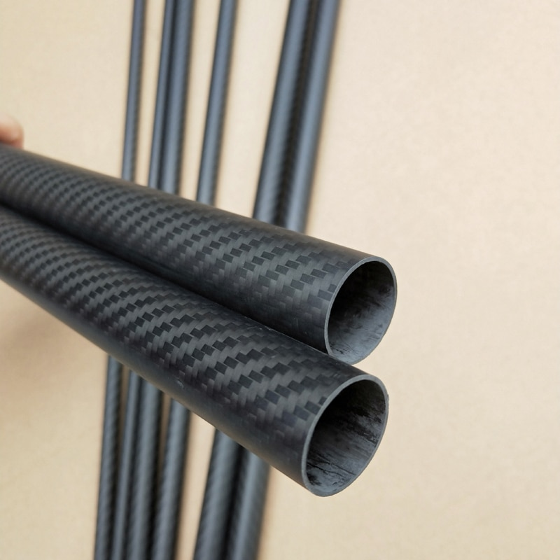 8pcs Length 500mm carbon fiber tube high composite hardness material 3K Twill matte for plant protection aircraft