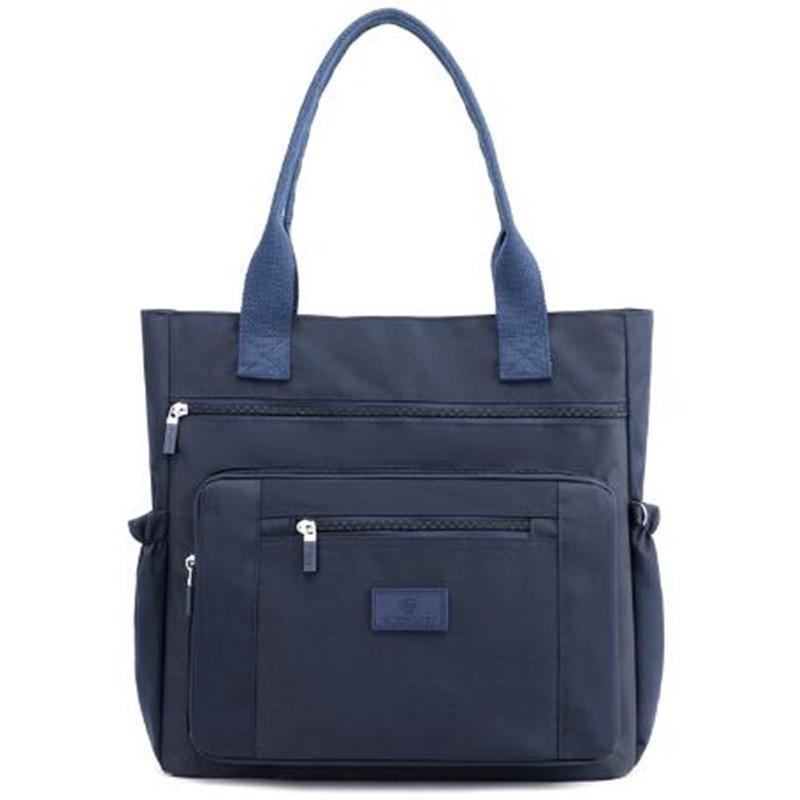 فاخر نساء نايلون حقائب كتف مقاوم للماء رداء علوي غير رسمي-مقبض السيدات حقيبة يد حقيبة تسوق سفر