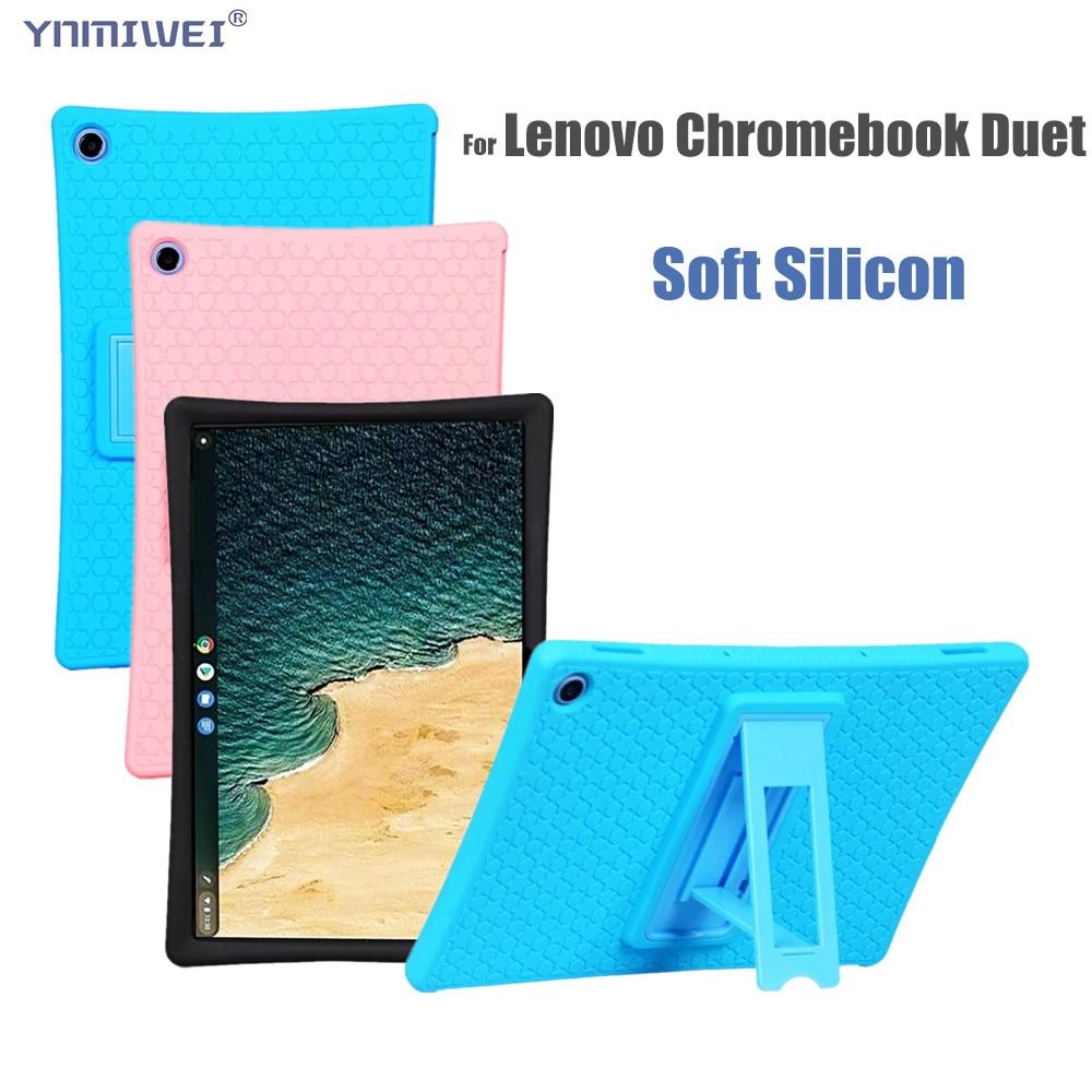 Чехол для Lenovo Chromebook Duet CT-X636 10,1 дюймов, чехол для планшета, мягкий силиконовый чехол-подставка, чехол для Lenovo Duet Chromebook чехол