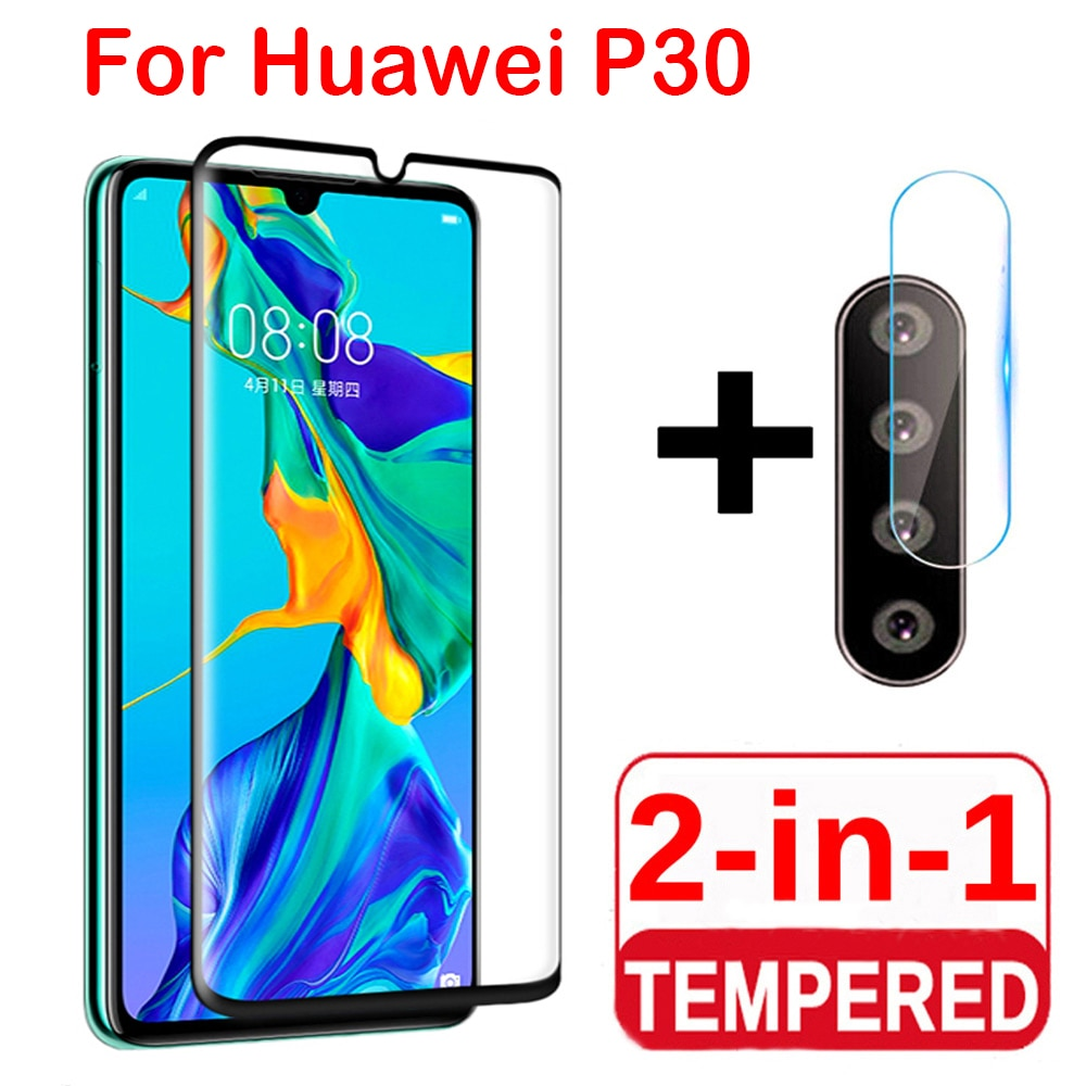 2 в 1 Защитная пленка для экрана, полное Защитное стекло для Huawei P30 lite Pro, Защитная пленка для задней камеры, закаленное стекло для Huawei P30 Lite