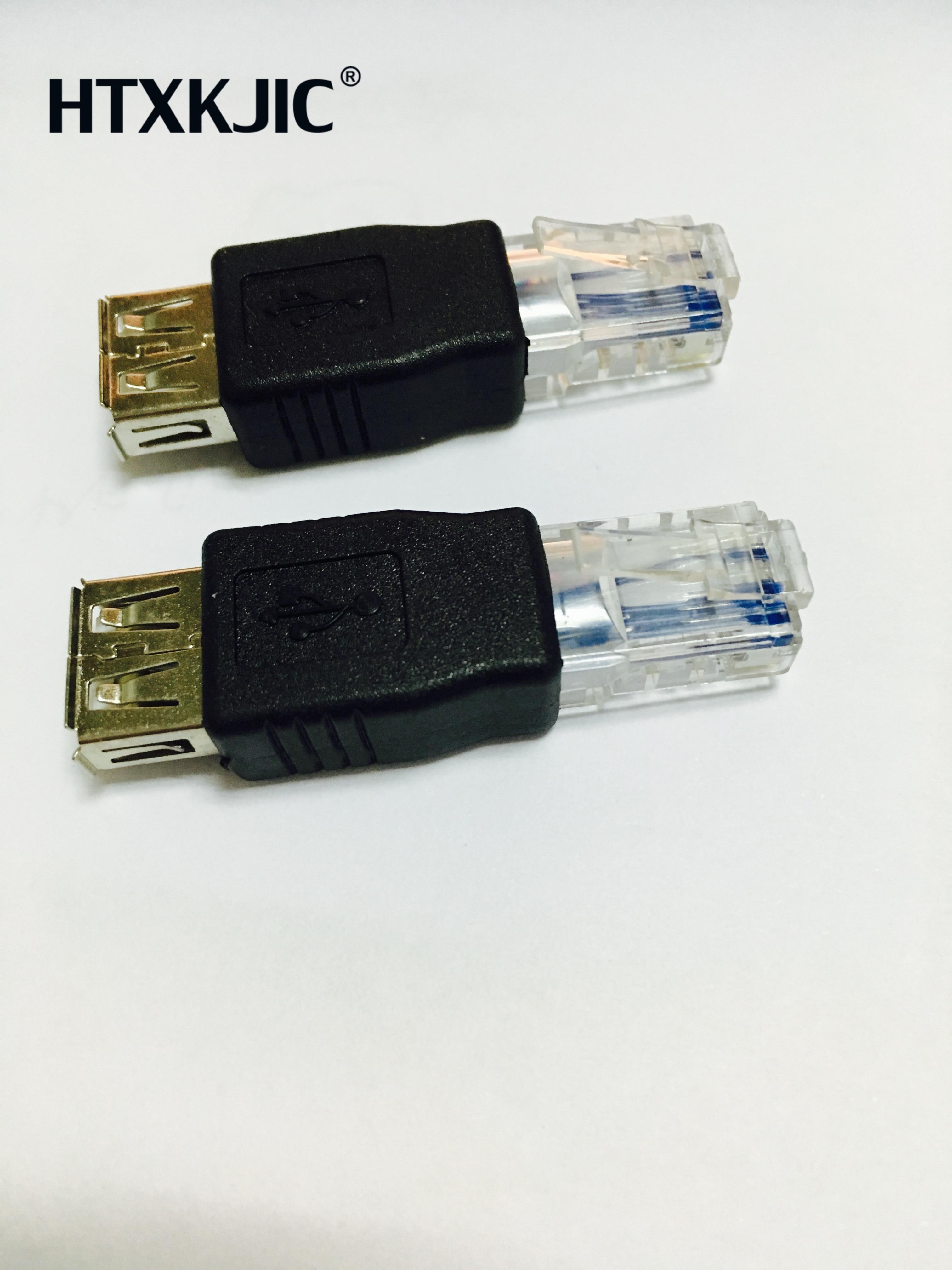 1 Uds USB tipo A hembra A Ethernet Internet RJ45 macho Adaptador convertidor de red enchufe