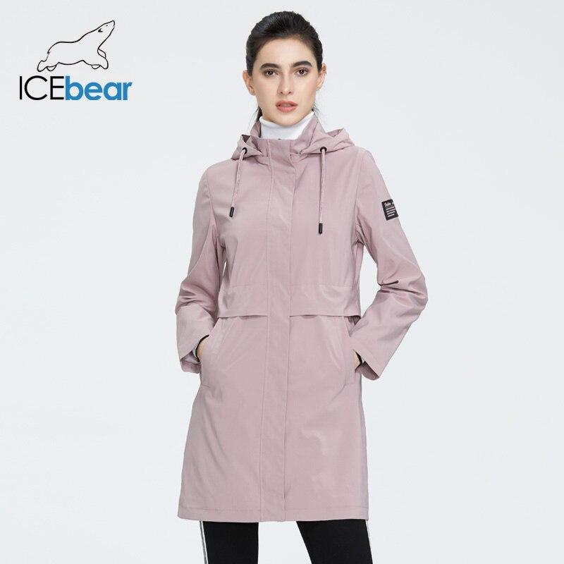 Abrigo rompevientos ICEbear 2020 de moda para mujer, gabardina de alta calidad para mujer con capucha, ropa de primavera para mujer GWF20017i