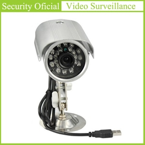 Plug and Play USB Camera Outdoor Waterproof 3.6mm HD Lens 24 LED Lamps Bullet Cameras support SD Memory Card Surveillance Camera