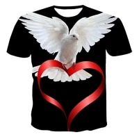 the latest animal pigeon series for spring and summer men and women 3d printing fashion popular casual sports t shirt xxs 6xl