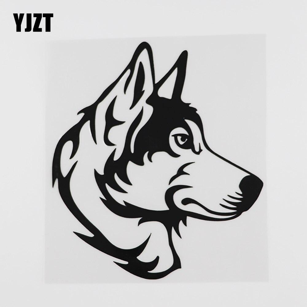 YJZT-pegatina de vinilo para coche, pegatina de Animal de mascota Husky, 14,7...