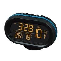 multi function car temperature clock voltmeter car thermometer electronic clock car night light clock supplies