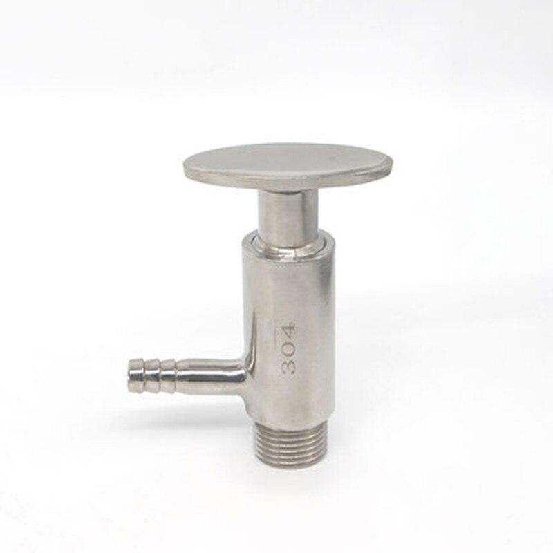 10 مللي متر خرطوم بارب OD 304 316L الفولاذ المقاوم للصدأ الصحية أخذ العينات صمام 1/2 BSP