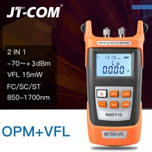 Testeur de câble optique en fibre optique pour localisateur de défaut optique 2 en 1 -70 à + 3dBm 15mW avec localisateur visuel de défaut de 15 km pour testeur de dégradation de la lumière des fibres