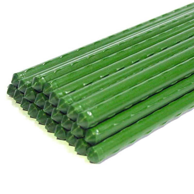 25 حزمة حديقة حصص المعادن البلاستيك المغلفة قفص النبات يدعم تسلق Tomatoes والأشجار والخيار والأسوار والفاصوليا ، 40 سنتيمتر