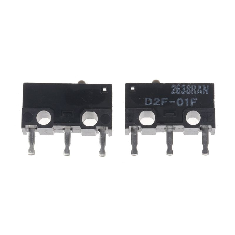 2 pièces Original OMRON souris Micro interrupteur D2F-01F gris point or alliage Contacts