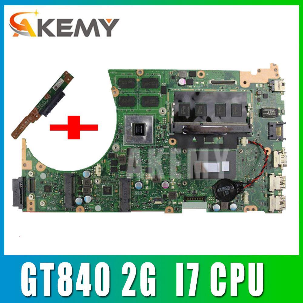 إرسال مجلس + ل ASUS K551L K551LB K551LD K551LN S551LB S551LN اللوحة i7 CPU S551lB REV2.2 اللوحة GT740 2G 100% اختبار