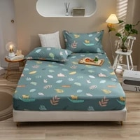 1pcs prints mattress cover four corners with elastic band bed cotton fitted sheet sheet mattress protector no pillowcases