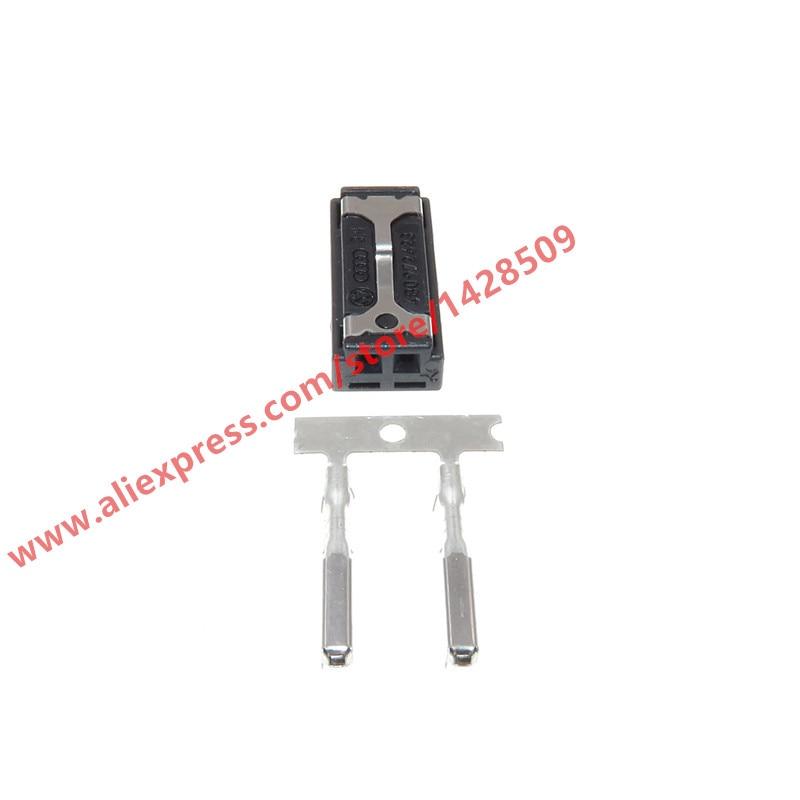 Conjuntos 10 2 Pino Plugue Do Fio Auto Tweeter Carro Buzzer Conector de Áudio Para VW Audi 4B0 972 623 4B0972623
