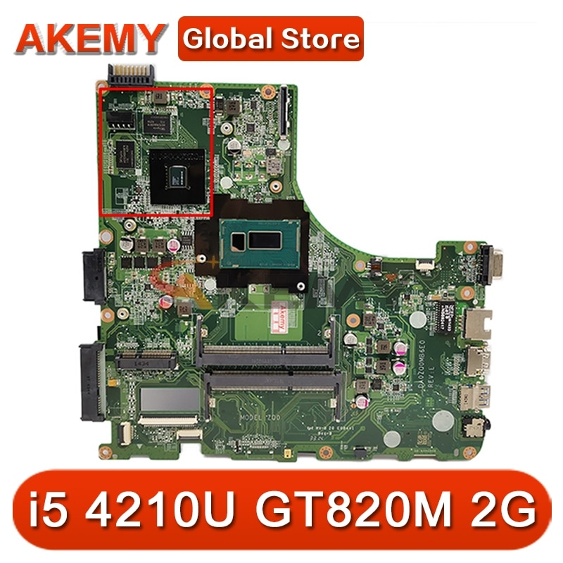 Akemy DA0ZQ0MB6E0 ZQ0 اللوحة لشركة أيسر E5-471 E5-471G V3-472P اللوحة المحمول وحدة المعالجة المركزية i5 4210U GT820M 2G اختبار موافق اللوحة
