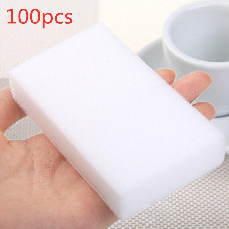 100/40/20/10 pçs esponja de melamina esponja mágica borracha melamina cleaner para cozinha escritório banheiro limpeza nano esponjas 10x6x2cm