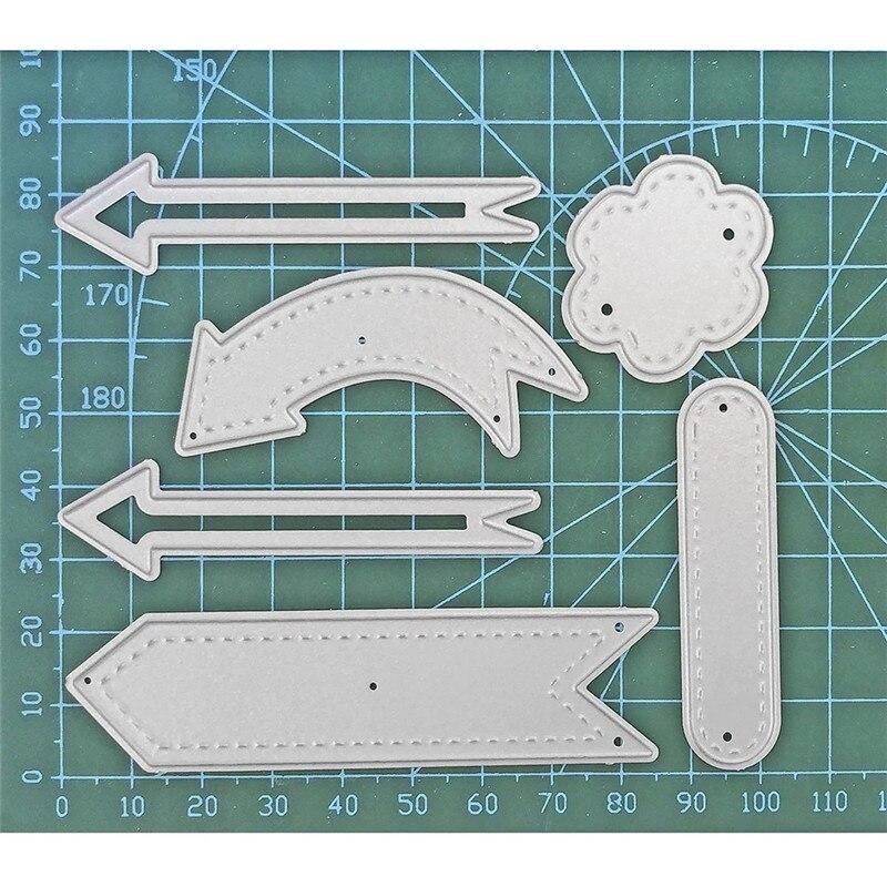 Eastshape-bannière flèche en métal   Matrices de découpe, Scrapbooking pour fabrication de cartes Album Photo, gaufrage décoratif, pochoirs artisanaux, bricolage