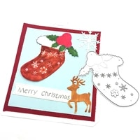julyarts christmas sock molde dies scrapbooking dies metal for diy scrapbooking photo album decorative paper cards