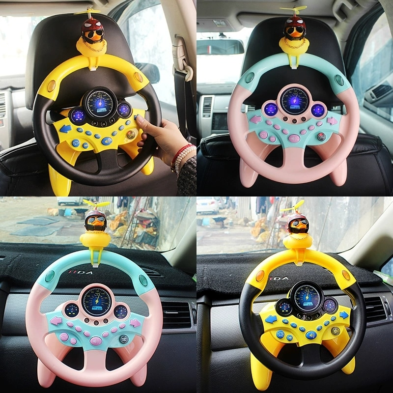 Милый детский телефон со светильник, имитация вождения, звук, музыка, забавные Развивающие детские электронные дорожные детские игрушки