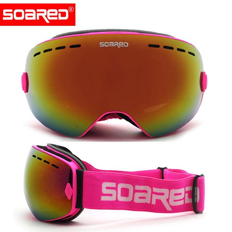 Лыжные очки для мужчин и женщин, очки для сноуборда, двухслойные, противотуманные, ветрозащитные, большие Лыжные маски, очки, зимние, лыжные ...