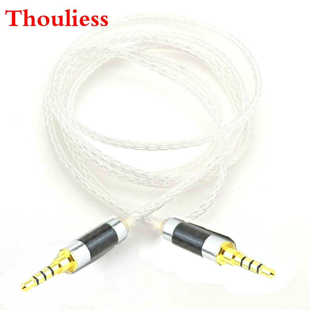 Thouliess 3.5mm 4pin TRRS Balanced Male to 3.5mm TRRS Balanced Male Hi-End Audio Adapter 7N Silver Plated Cable