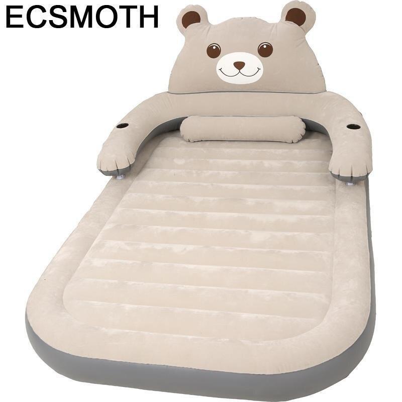 Bett-Mueble De Dormitorio Para el hogar, Cama inflable con iluminación móvil Para...