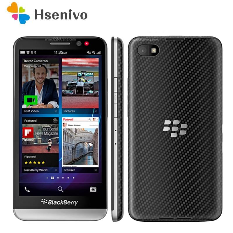 BlackBerry Z30-teléfono inteligente, teléfono móvil Original libre con Dual core, 4G, wi-fi, cámara de 8,0mp, pantalla de 5,0 pulgadas, 16GB ROM, móvil renovado, envío gratuito
