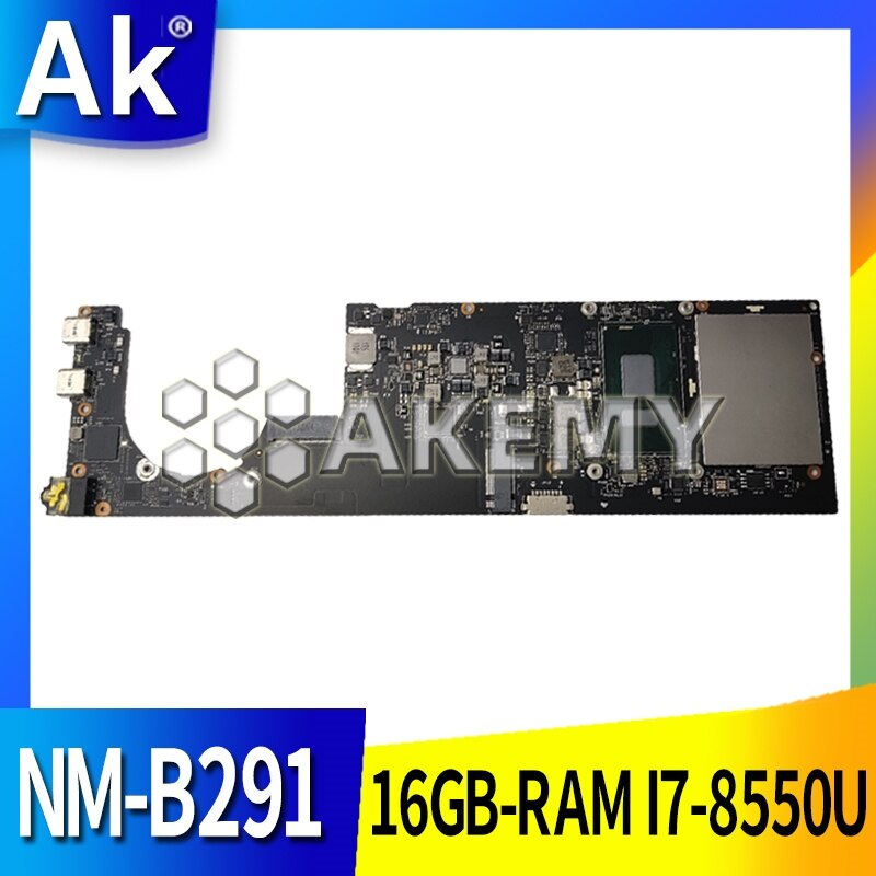NM-B291 Laptop motherboard for Lenovo YOGA 920-13IKB original mainboard 16GB-RAM I7-8550U