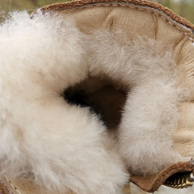 Children boots winter shoes australian sheepskin warm girls and boys real leather designer fur wool one enlarge