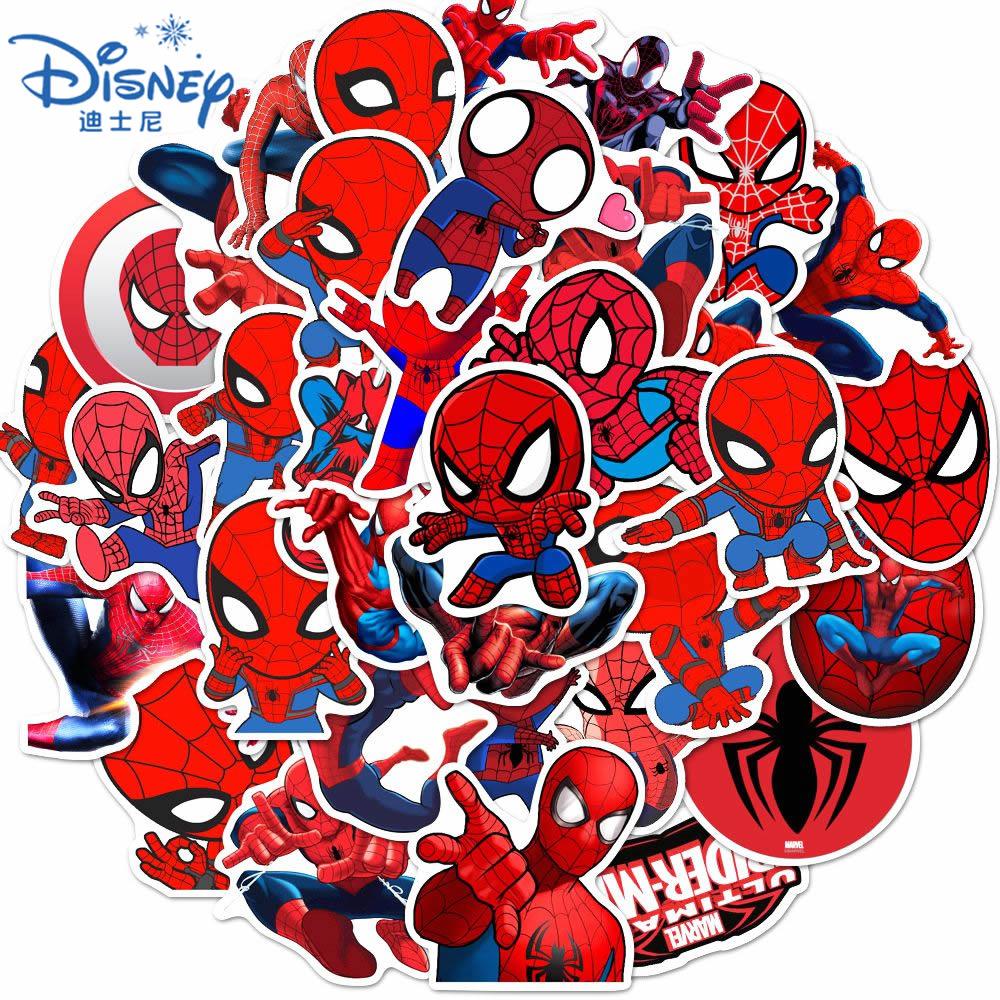 10-35pcs-disney-cool-spiderman-stickers-funny-the-avengers-skateboard-guitar-laptop-bagagli-cartoon-adesivo-impermeabile-giocattoli-per-bambini