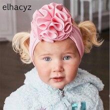 1PC 2021 Neue Schöne Blume Baby Stirnband Trendy Elastische Headwrap Baby Mädchen Haar Band Turban Feste Headwear DIY Haar zubehör