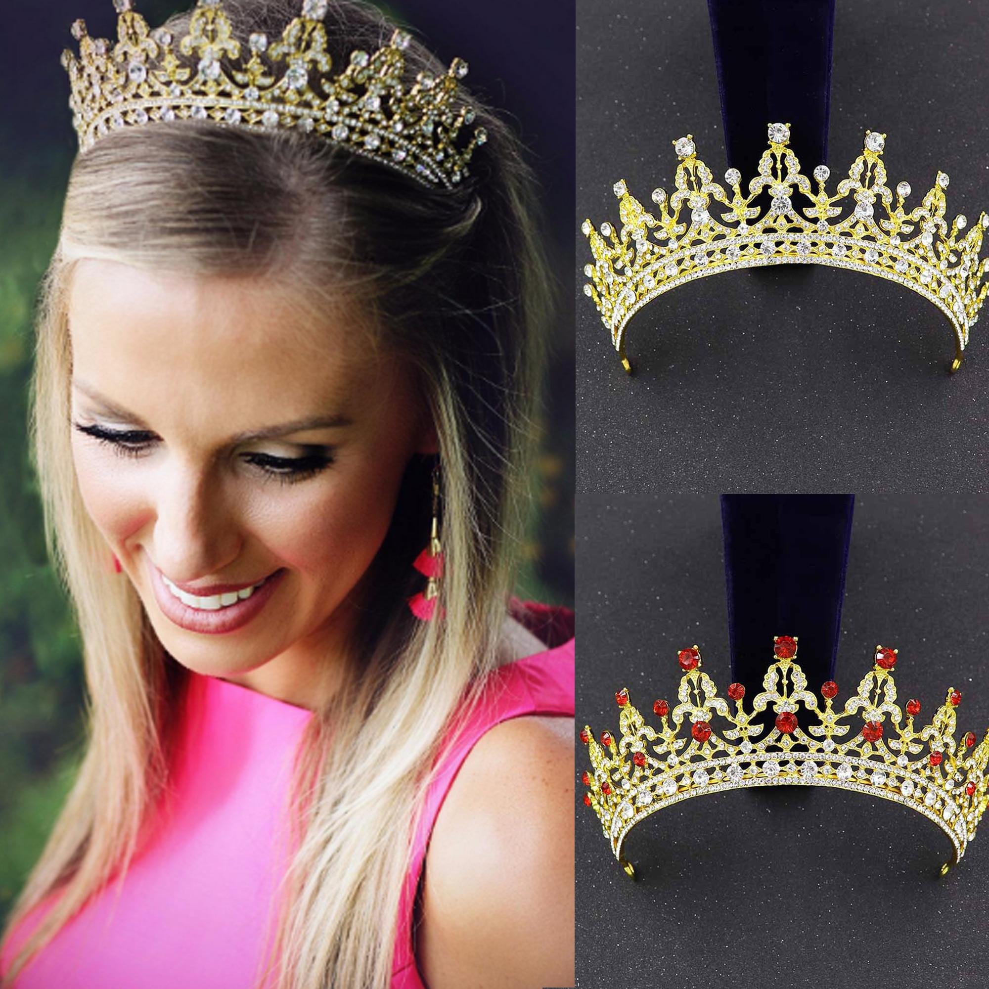 Tiara nupcial de cristal para boda, accesorios de joyas para el pelo...