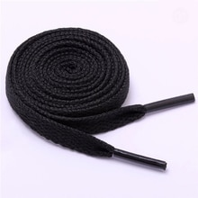 1 Pair Shoelace Flat Popular Sports Shoes Laces Casual Canvas Polyester Shoelaces Candy Color White
