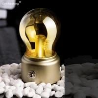 creative retro nostalgic england light bulb usb recharge bedroom table night lamp holiday ambient light decor home christmas