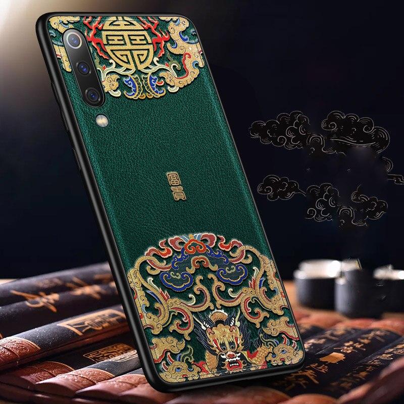 Funda trasera de cuero en relieve para Xiaomi cc9/cc9e/mi 9/Xiaomi redmi note 7/note 7 pro fundas de teléfono estilo especial de China Aixuan