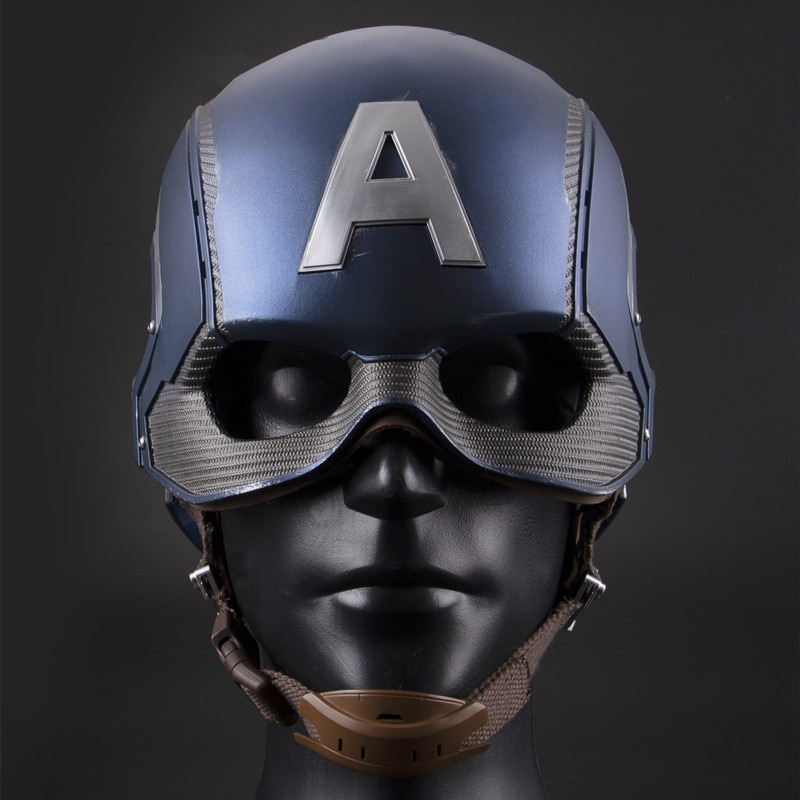 Disney's New Captain America Helmet Wearable Role-playing Model Toy Motorcycle Helmet Boy Hand-made Collection Gifts