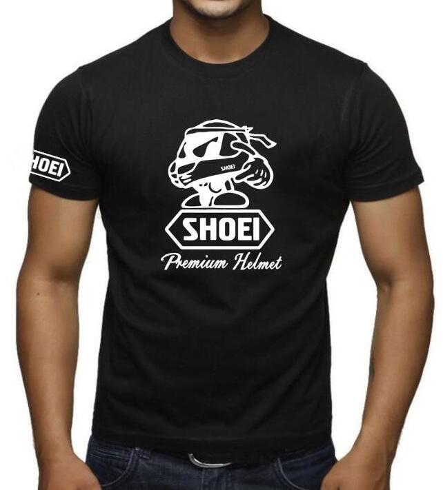 2019 verano SHOEI casco Camiseta Hombre manga corta Camiseta SUZUKI GSX-R Casual akrapovic camiseta