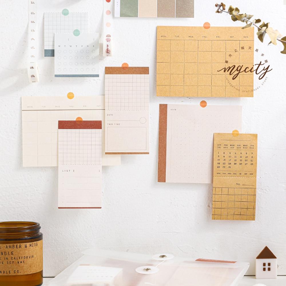 1bag Kawaii Sticky Memopad Notes Set PVC Package DIY Decoration Planner Memo Pad Washin Tape Calendar Card Gift Stationery
