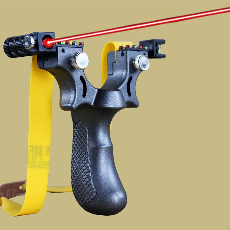 Laser Aiming Slingshot Equipped With Level Instrument For Outdoor Sports Hunting Using High Power Sl