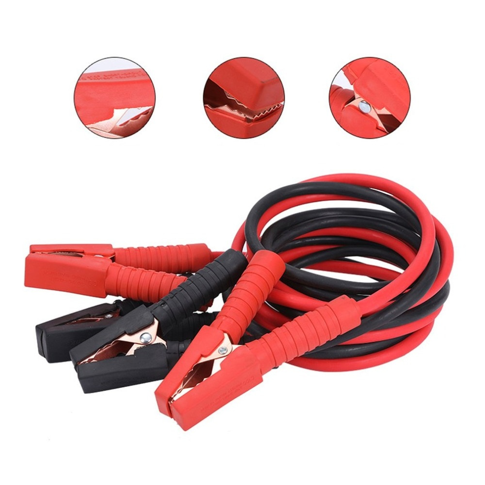 4m Line Pure Copper Emergency Charging Line Fire Line Thickening 2500A Multi-functional Charging Ignition Line enlarge