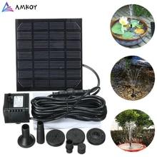 AMKOY-fontaine solaire de jardin 1.5W   Pompe à eau solaire 200L/H, cascade, puissance, solaire, fontaine à oiseaux, pompe à eau, fontaine de bain à oiseaux, déco