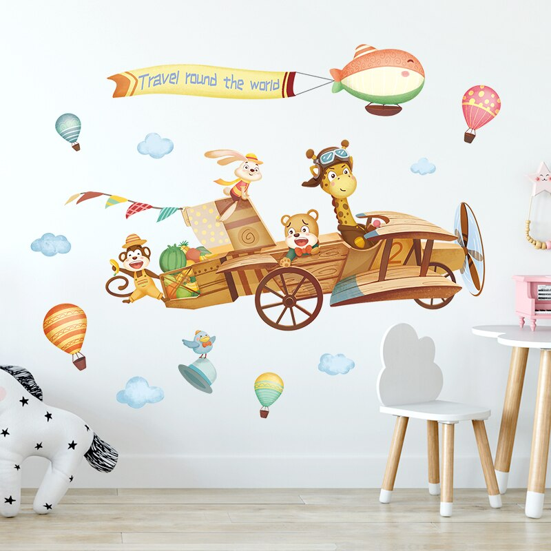 Vinyl Wall Sticker Children's Room Kawaii Decor Bedroom Baby Nursery Wall Stickers for Kids Rooms Boys Decoration
