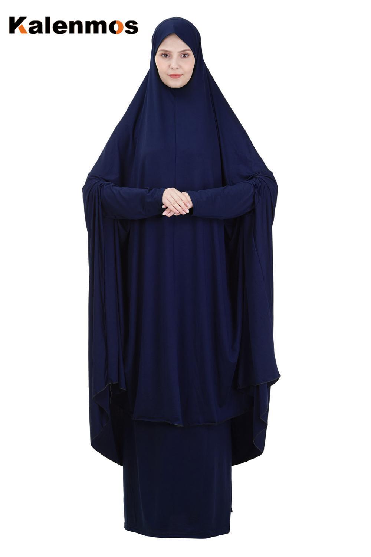 Gebet Garment Kleid Muslimische Frauen Zwei-Stück Set Abaya Jilbab Hijab Lange Khimar Outfit Ramadan Rock Abayas Islamische Kleidung niqab