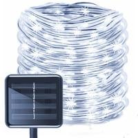 Светодиодная гирлянда на солнечной батарее, уличный садовый шнурок с солнечными батареями, рождественсветильник ничный декоративный свет...