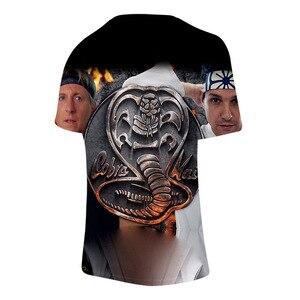 New Cool Cobra Kai 3D T Shirt  Summer Harajuku 3D Print Men/women T Shirt Student Breathable Fashion Tees