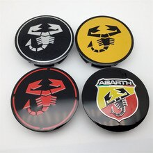 4pcs 50mm For Abarth Scorpion Car Wheel Center Hub Emblem Badge Cap Cover Sticker Auto Styling Acces