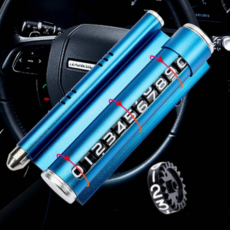 Youpin 4 In1 Car Temporary Parking Card Telephone Number Mobile Phone Holder Aromatherapy Car Safety Hammer enlarge